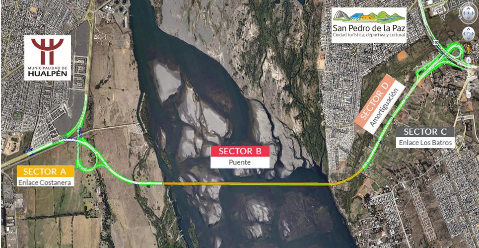 Bio Bio: Seremi de OO.PP. descarta problemas en Hualpén tras puesta en operación del futuro Puente Industrial