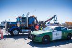 Grúa permite retiro de 13 camiones accidentados en accesos al Puerto de San Antonio durante Fiestas Patrias