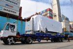Puerto de Iquique recibe primeros vagones del tren metropolitano de Cochabamba