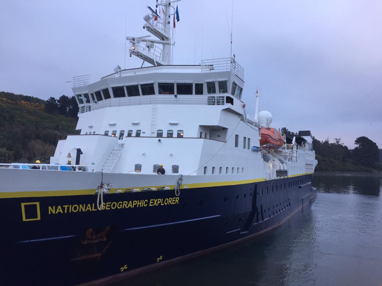 Galería: Puerto Montt comienza temporada de cruceros con recalada de National Geographic Explorer