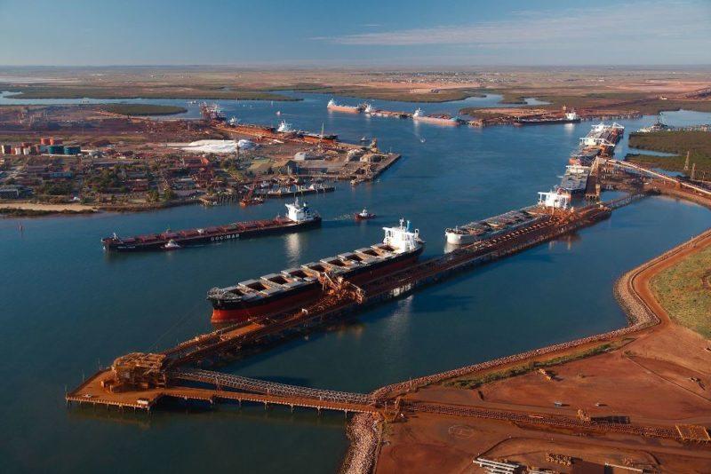 Australia: Rendimiento de los puertos de Pilbara bajan 3% en agosto