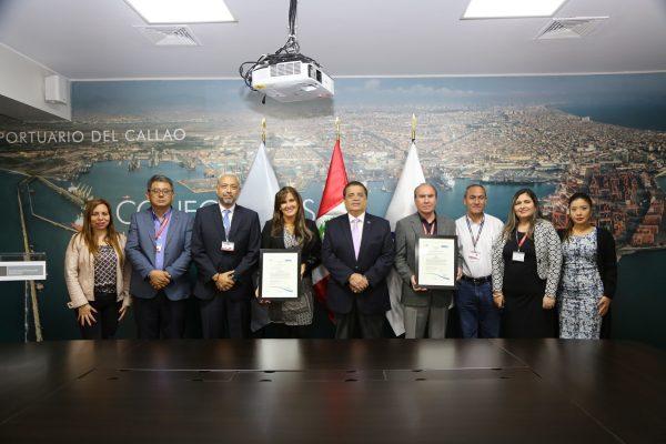 Autoridad Portuaria Nacional del Perú recibe certificaciones ISO en gestión de calidad y antisoborno