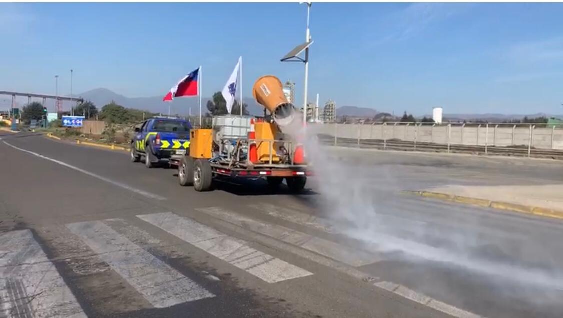 [Video] Así funciona el cañón pulverizador sanitizante ideado por trabajadores de Puerto Ventanas