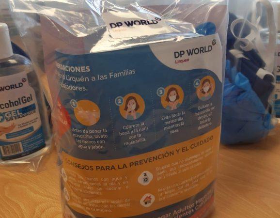 DP World Lirquen realiza entrega de kit familiar con implementos de protección sanitaria a sus trabajadores