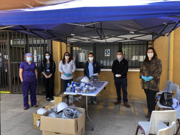 Puerto Ventanas dona insumos médicos a personal del Cesfam local