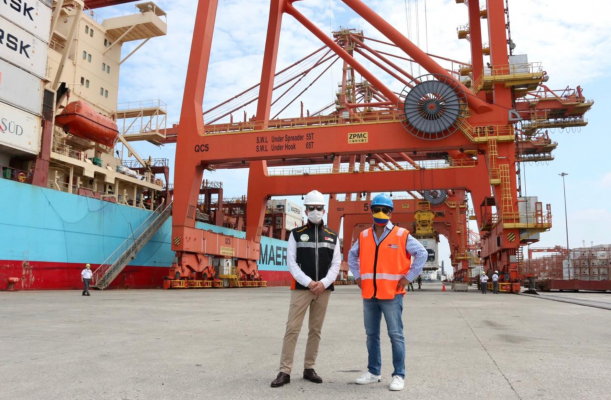 Ministro de Producción de Ecuador verifica operación de Puerto Libertador Simón Bolívar