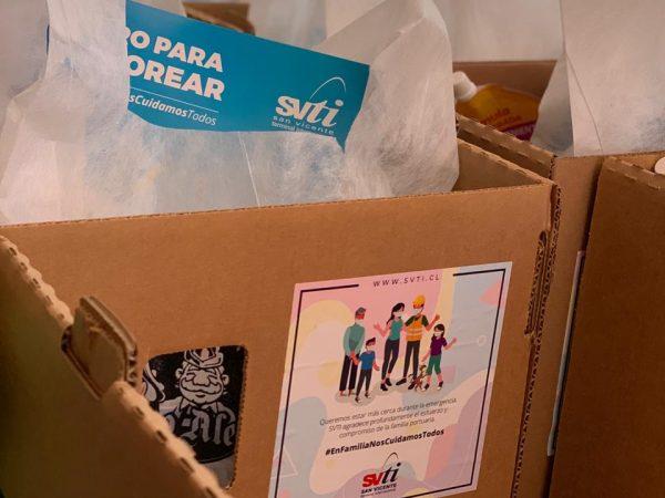 SVTI entrega cajas con alimentos e insumos de limpieza y protección sanitaria a familias de sus trabajadores