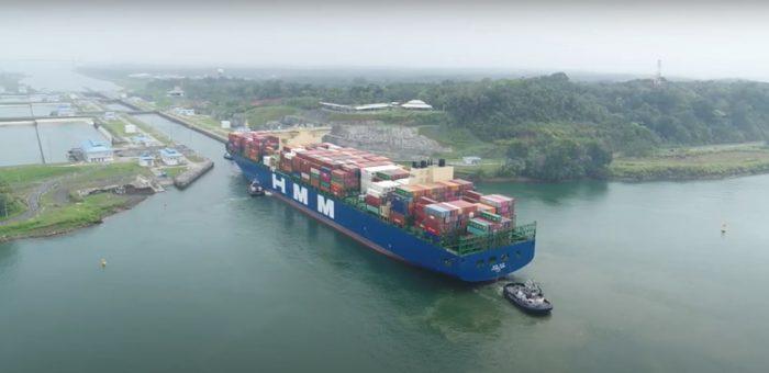 Video: Así fue el tránsito inaugural por el Canal de Panamá del Hyundai Hope