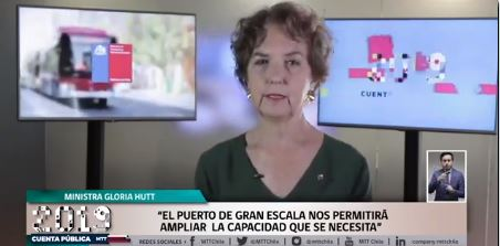 """Ministra de Transportes asegura que Puerto de Gran Escala de San Antonio """"marcará una época"""""""