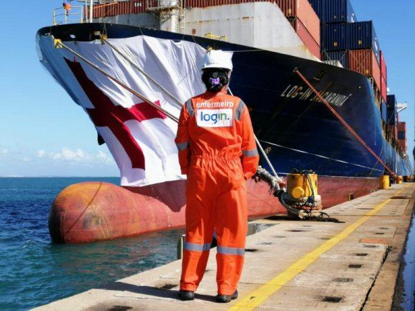 Naviera brasileña coloca mascarilla a buque para conmemorar Día de la Enfermería