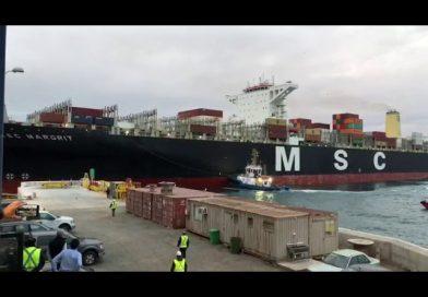 Video: Captan momento en que dos naves estuvieron a metros de colisionar en el Puerto de San Antonio