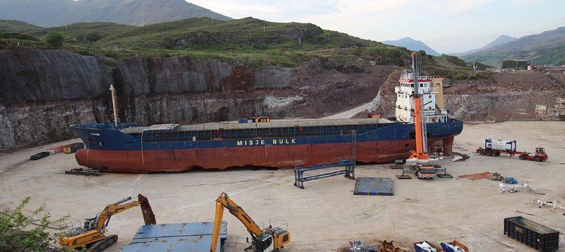 Video | Así fue el desguace y reciclaje del MV Kaami en Escocia