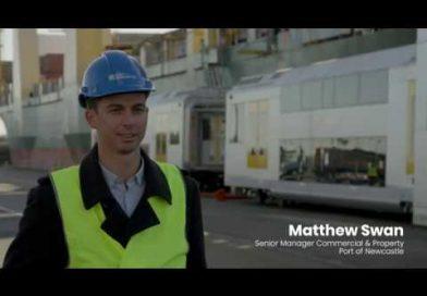 Video| Así fue la llegada de nuevos trenes de pasajeros de Sydney al Puerto de Newcastle