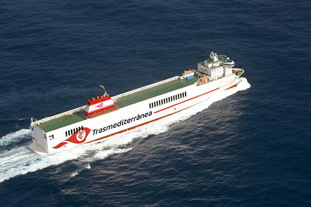 Armas Trasmediterránea renombra barco José M. Entrecanales como Villa de Tazacorte