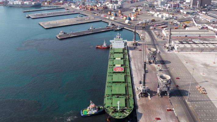Llegada de nave granelera de grandes dimensiones al Muelle Norte del TP del Callao 3
