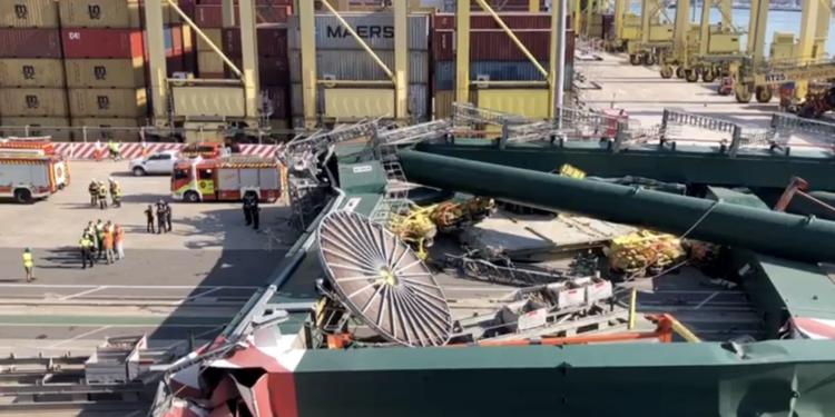 Autoridad Portuaria de Valencia cifra una pérdida de 25 mil TEU mensuales por accidente en terminal de MSC