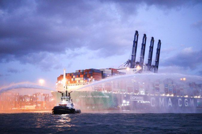 Galería: CMA CGM Jacques Saade es recibido por primera vez en Puerto de Algeciras