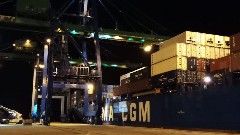 África: Terminal de Contenedores de Owendo logra récord en manejo de carga  de un solo buque - PortalPortuario