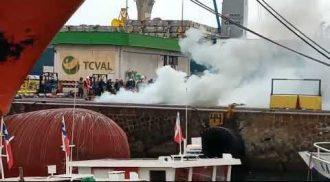 Video muestra cómo fue la protesta con barricadas al interior de TCVAL