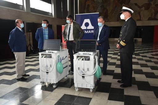Asmar entrega diez ventiladores mecánicos a Hospital Regional de Concepción