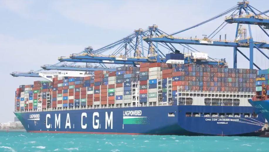 Arabia Saudita: CMA CGM Jacques Saade llega por primera vez al Puerto de Jeddah