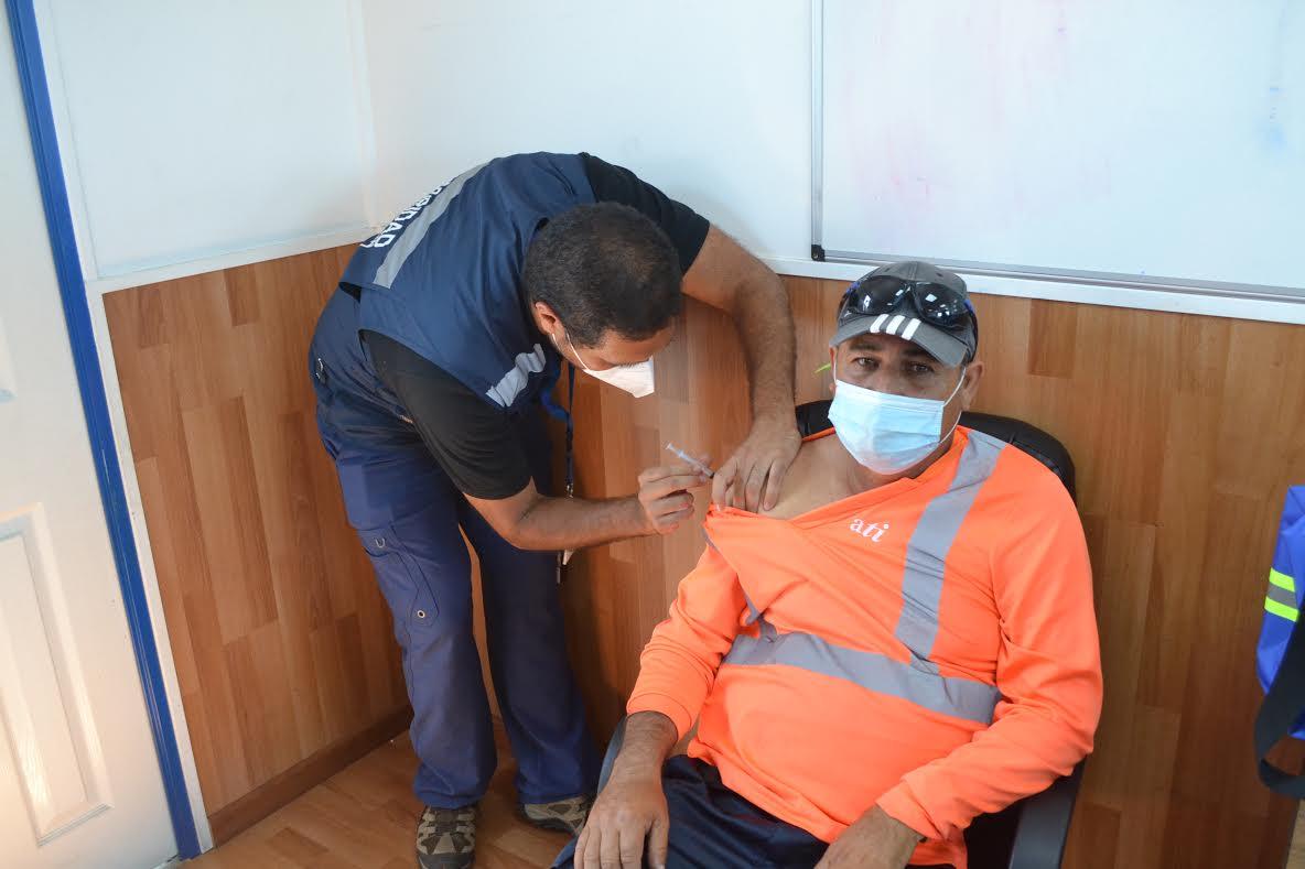 Trabajadores del Puerto de Antofagasta inician proceso de vacunación contra el Covid-19