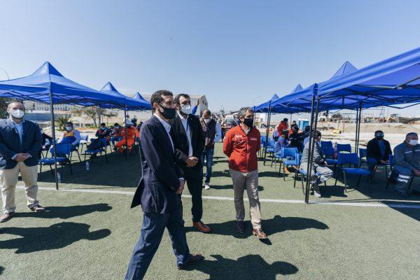 Gobierno Regional de Antofagasta oficializa a Puerto Angamos como nuevo punto de vacunación contra el Covid-19 en Mejillones