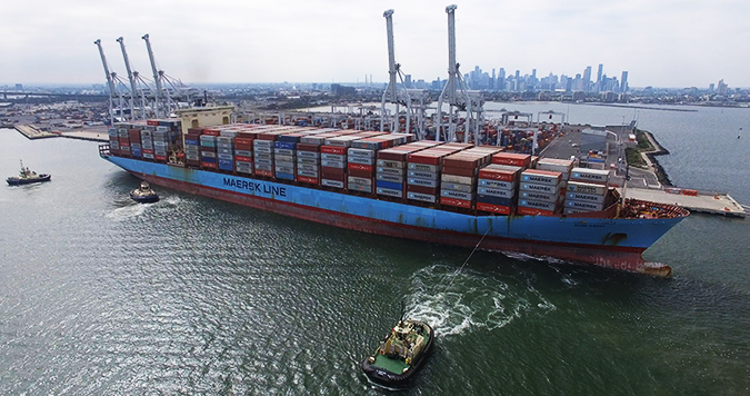 Australia: Terminal de Ictsi recibe al buque de mayor eslora en recalar al Puerto de Melbourne