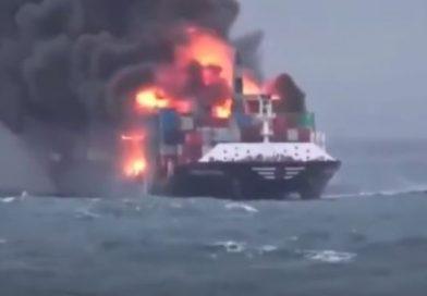 Video: Portacontenedores de X-Press Feeders sufre incendio en Sri Lanka