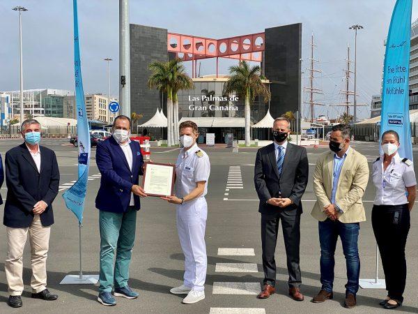 Canarias premia a TUI Cruises por concretar viajes de cruceros