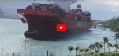 Buque Cap San Antonio colisiona con pontones en Guarujá