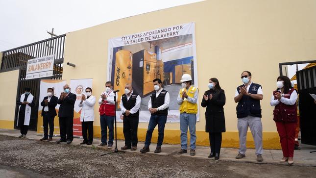 Perú: Actividad portuaria contribuye a la instalación de segunda planta de oxígeno en Salaverry