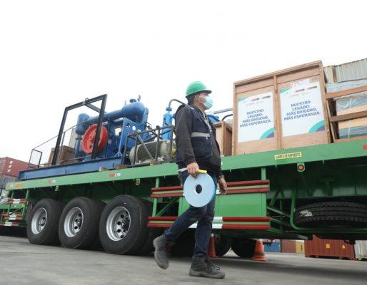 Puerto del Callao recibe una planta para producir oxígeno medicinal