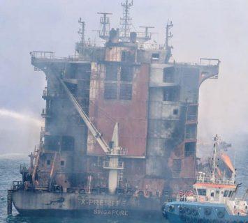 Imágenes: Los restos del X-Press Pearl tras su incendio en Sri Lanka