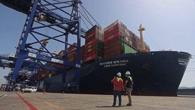 HMM Algeciras recala por primera vez al Puerto de Algeciras