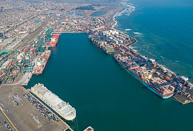 Una vista por aire del puerto de San Antonio