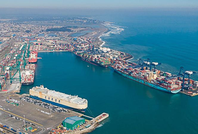 Uno de los buques atendidos en DP World fue un car carrier llamado Asian Vision