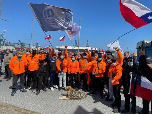 Trabajadores portuarios recordaron a sus compañeros en el Paseo Bellamar