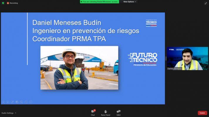 Terminal Puerto Arica realiza exposición orientada a alumnos en práctica de la zona norte de Chile